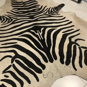 Other - Cowhide Rug in Zebra with a brand🖤